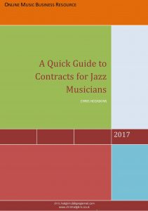 A Quick Guide to Contracts for Jazz Musicians front cover