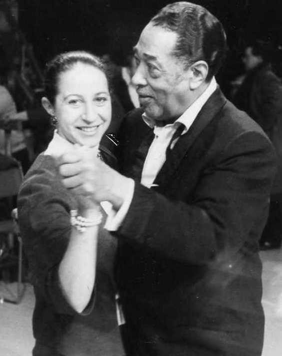 Susan da Costa dancing with Duke Ellington Feb 1964