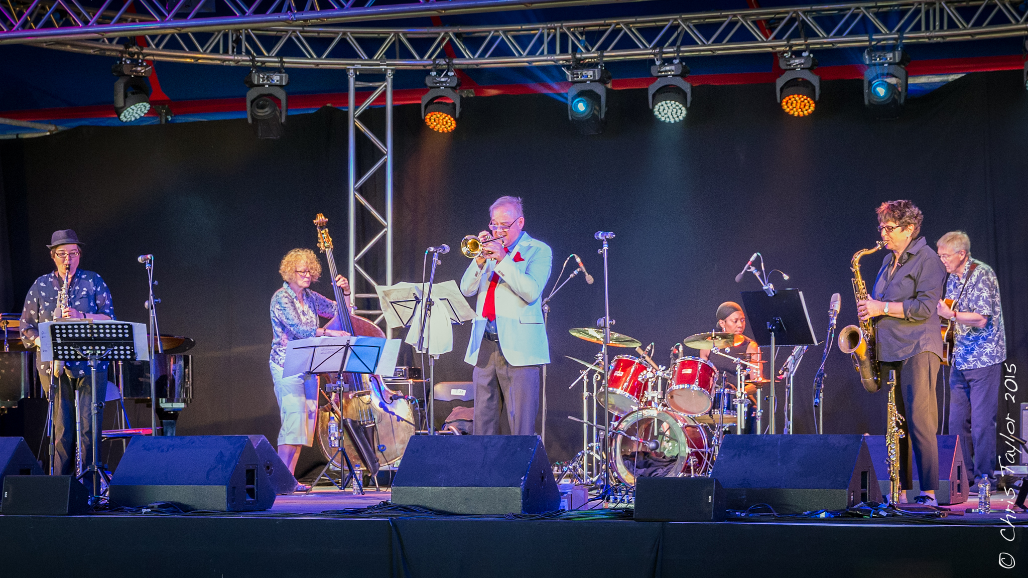 Chris Hodgkins And His Band Ealing Jazz Festival 1st August 2015