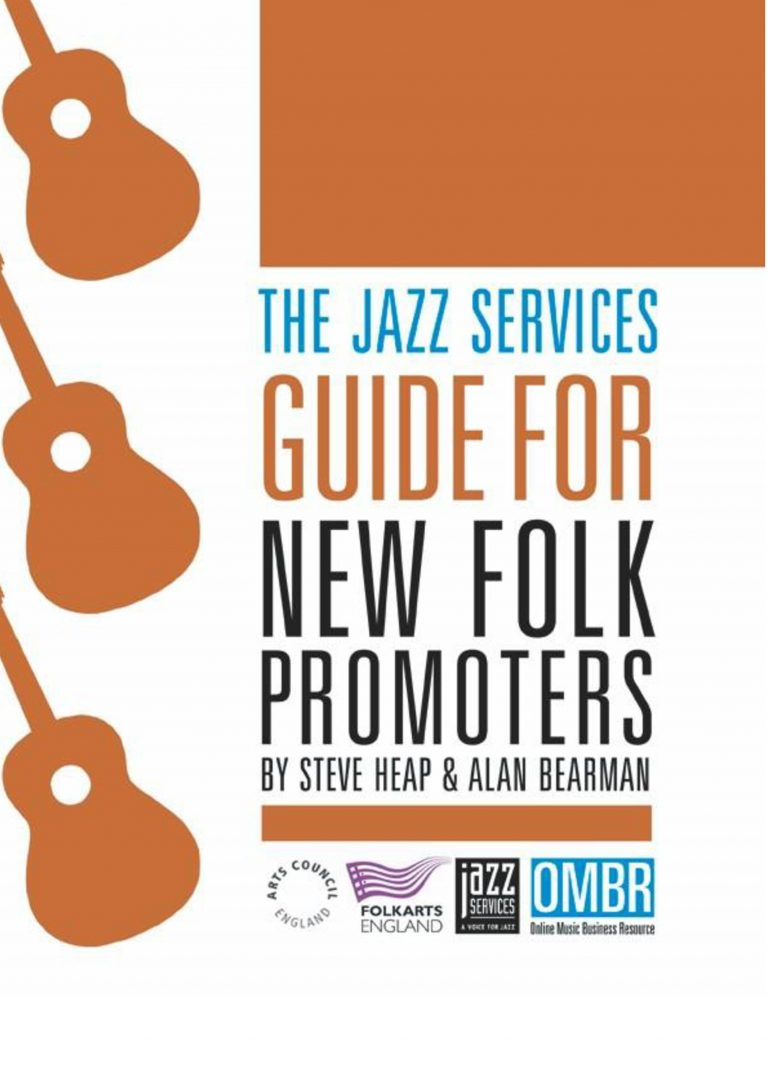 Front cover of guide for new folk promoters