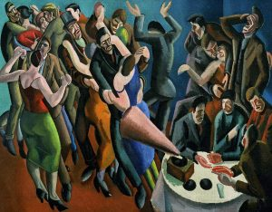The Dance Club (The Jazz Party) 1923, William Patrick Roberts on loan from Leeds Museum and Art Gallery